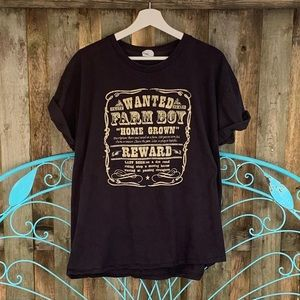 """Graphic Tee """"Wanted Farm Boy~ Homegrown """""""